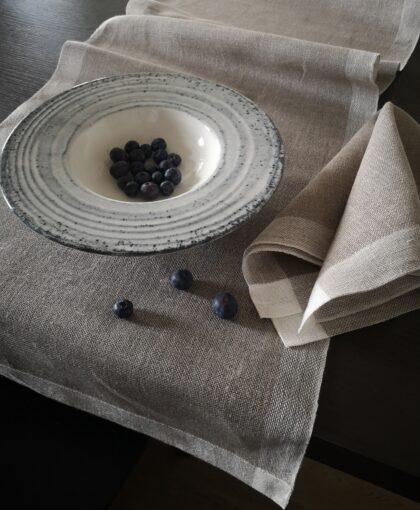 Hand made linen table runner